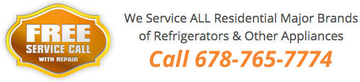 Call our All Pro Appliance and Refrigerator Repair team at 678-765-5774